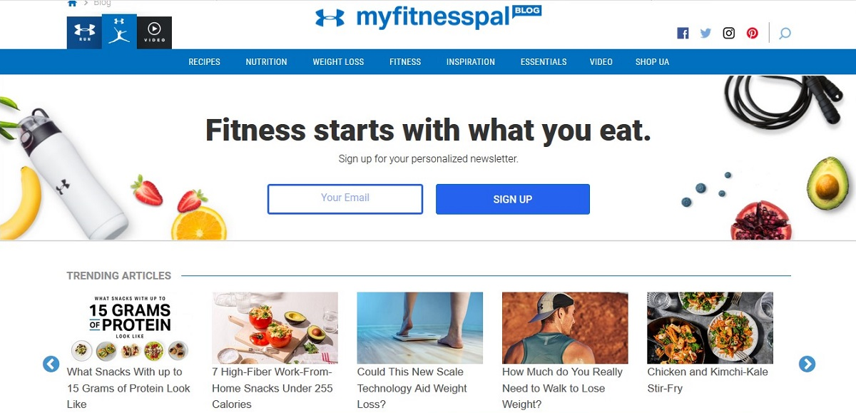 MyFitnessPal health apps on The Tonic www.thetonic.co.uk
